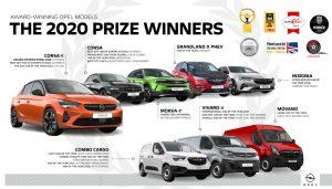 2020 godina Opel Nagrađivani modeli